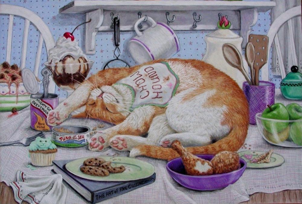 """Chow Hound"" original fine art by Joy Campbell"