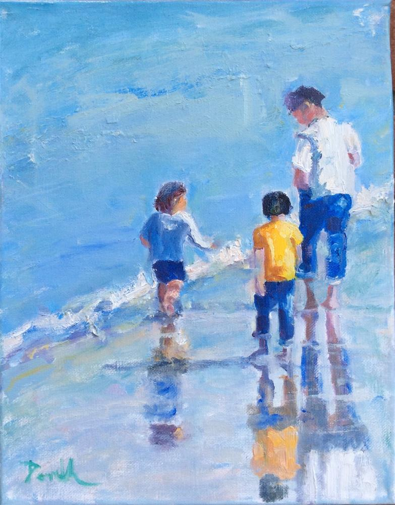 """Beach Walking"" original fine art by Debbie Dowdle"
