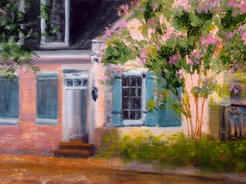 """Pink And Blue 1422, Garden District New Orleans"" original fine art by Dalan Wells"
