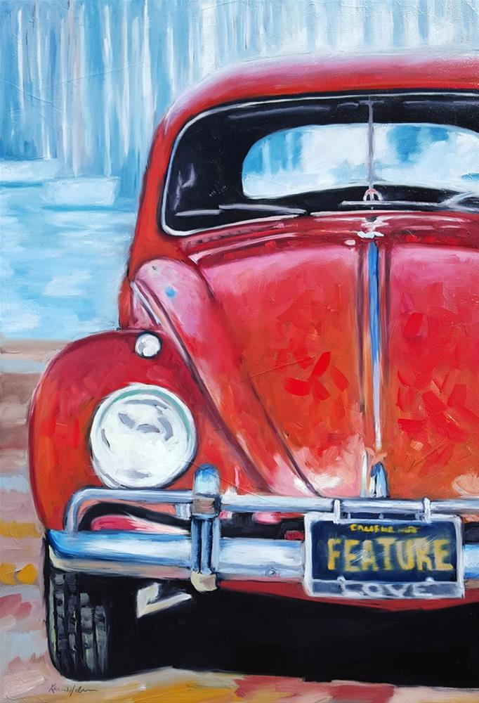 """Its Not a Bug"" original fine art by Karen Weber"