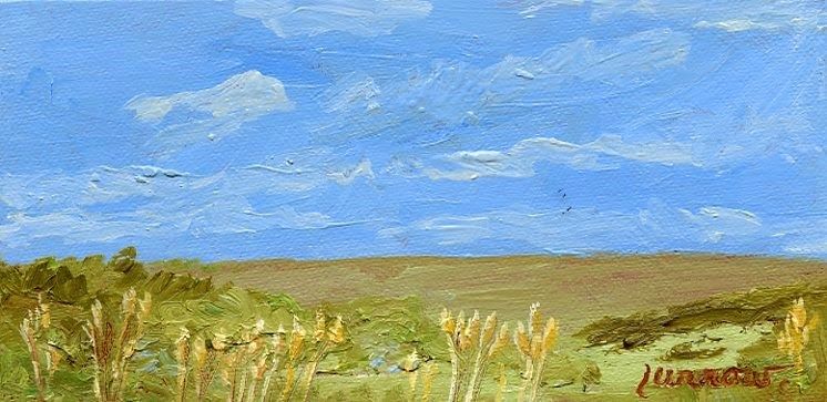 """Day 24 of 30 day Challenge.  Dune Grasses #2"" original fine art by Sue Furrow"
