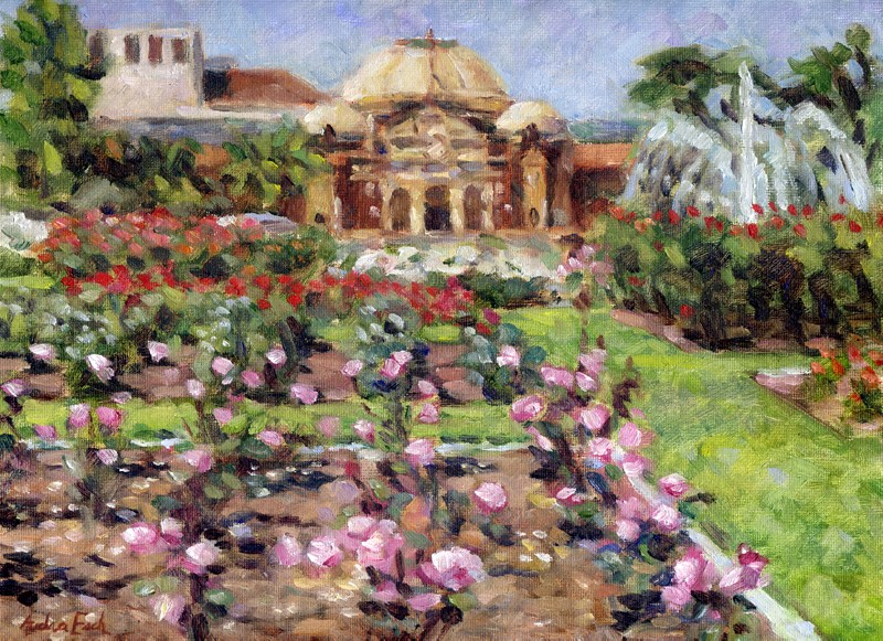 """Expo Park Rose Garden"" original fine art by Audra Esch"