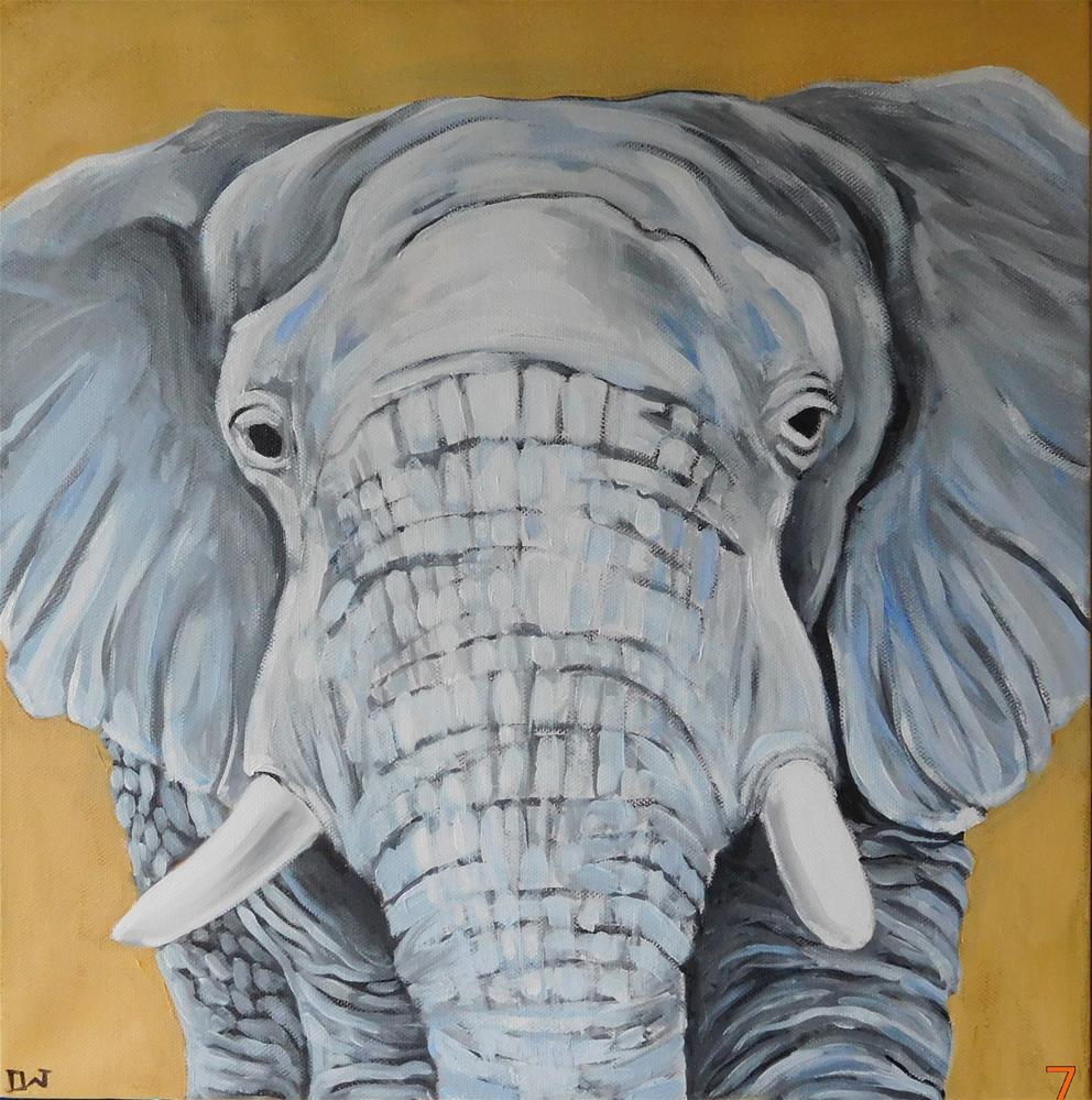 """""""E is for Elephant"""" original fine art by Daryl West"""