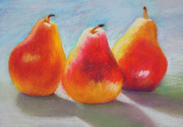 """""""Sunlight and Pears"""" original fine art by Sharon Lewis"""