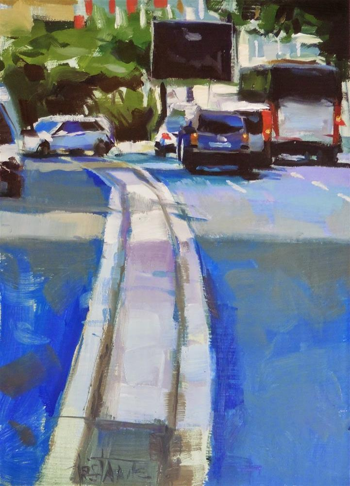 """Traffic #2"" original fine art by Víctor Tristante"