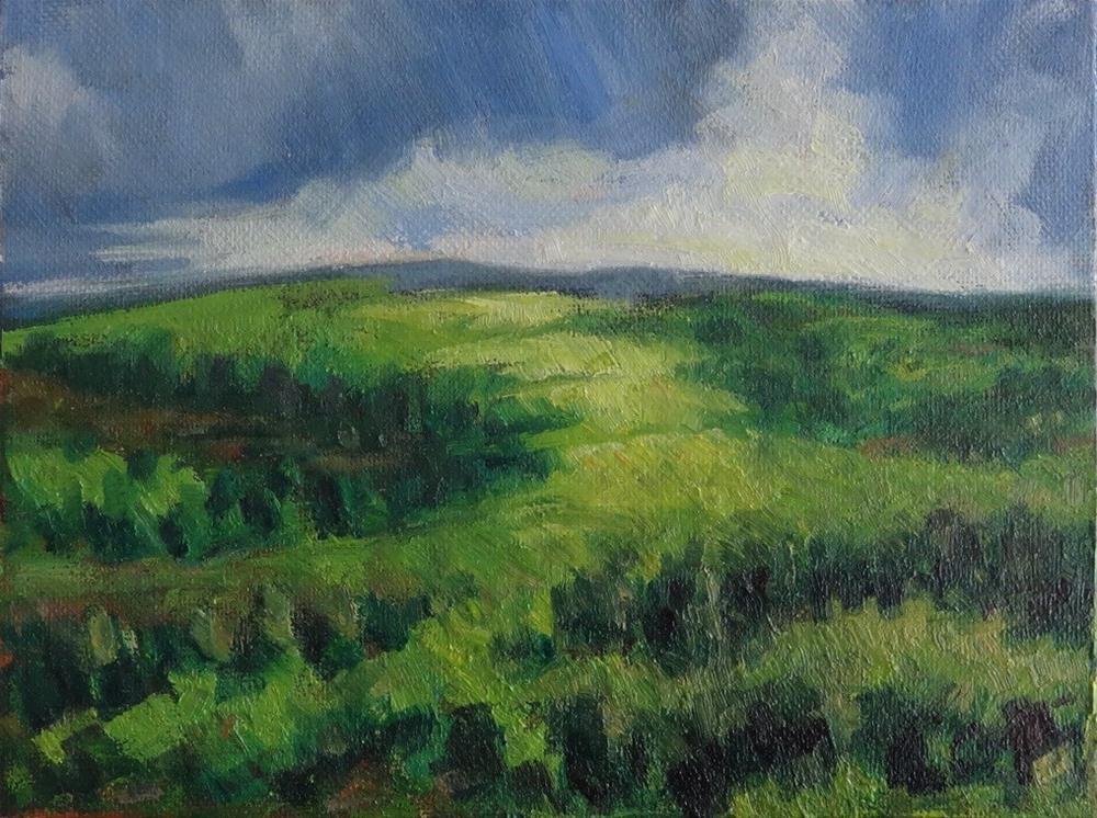 """Foothills"" original fine art by Hansen Tsien"