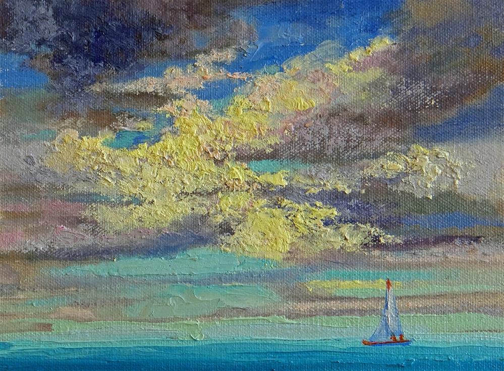 """""""Sailing in the Clouds"""" original fine art by Nancy Paris Pruden"""