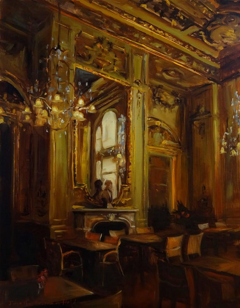 """Louvre Cafe"" original fine art by Jonelle Summerfield"