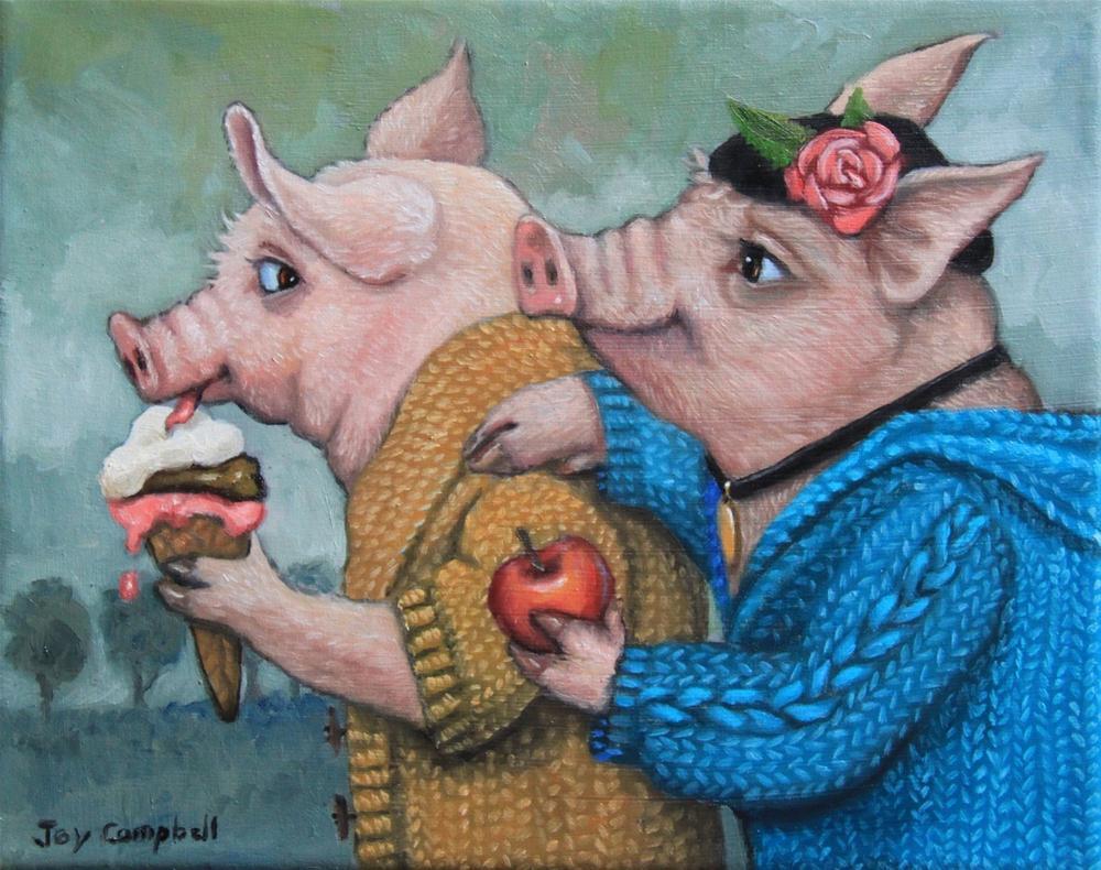 """Will You Trade?"" original fine art by Joy Campbell"