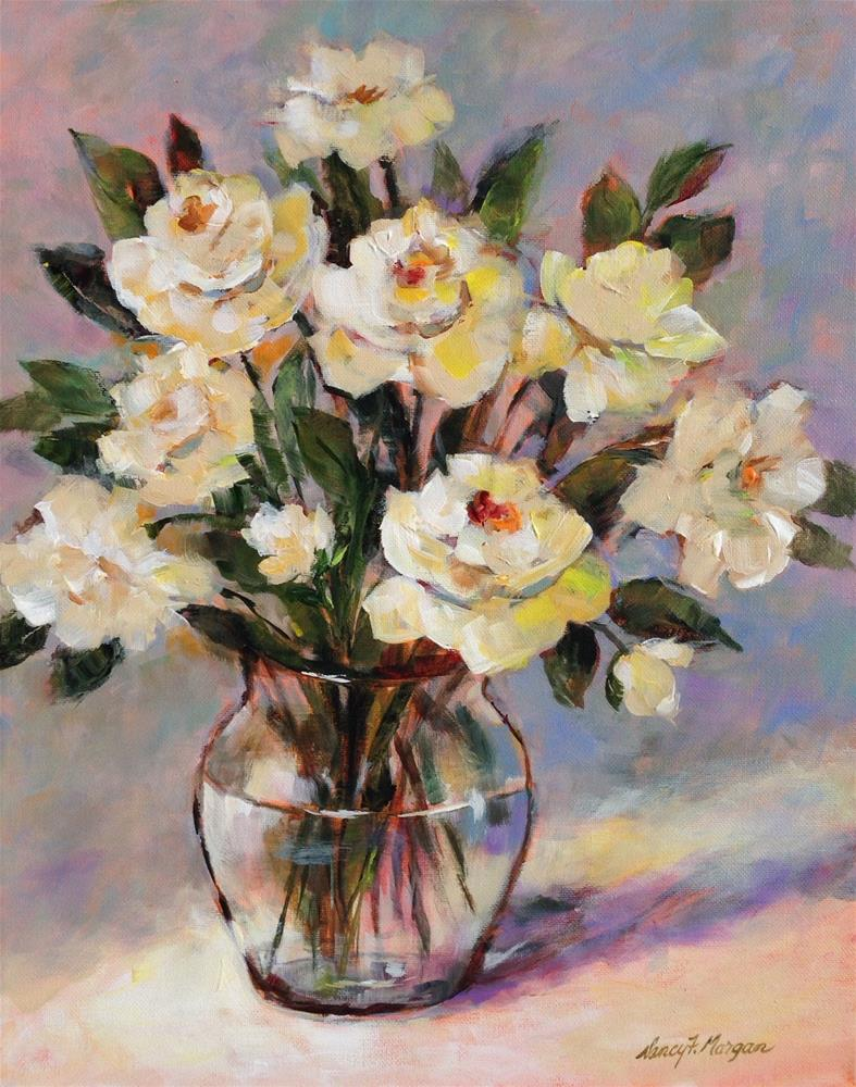 """Afternoon Roses"" original fine art by Nancy F. Morgan"
