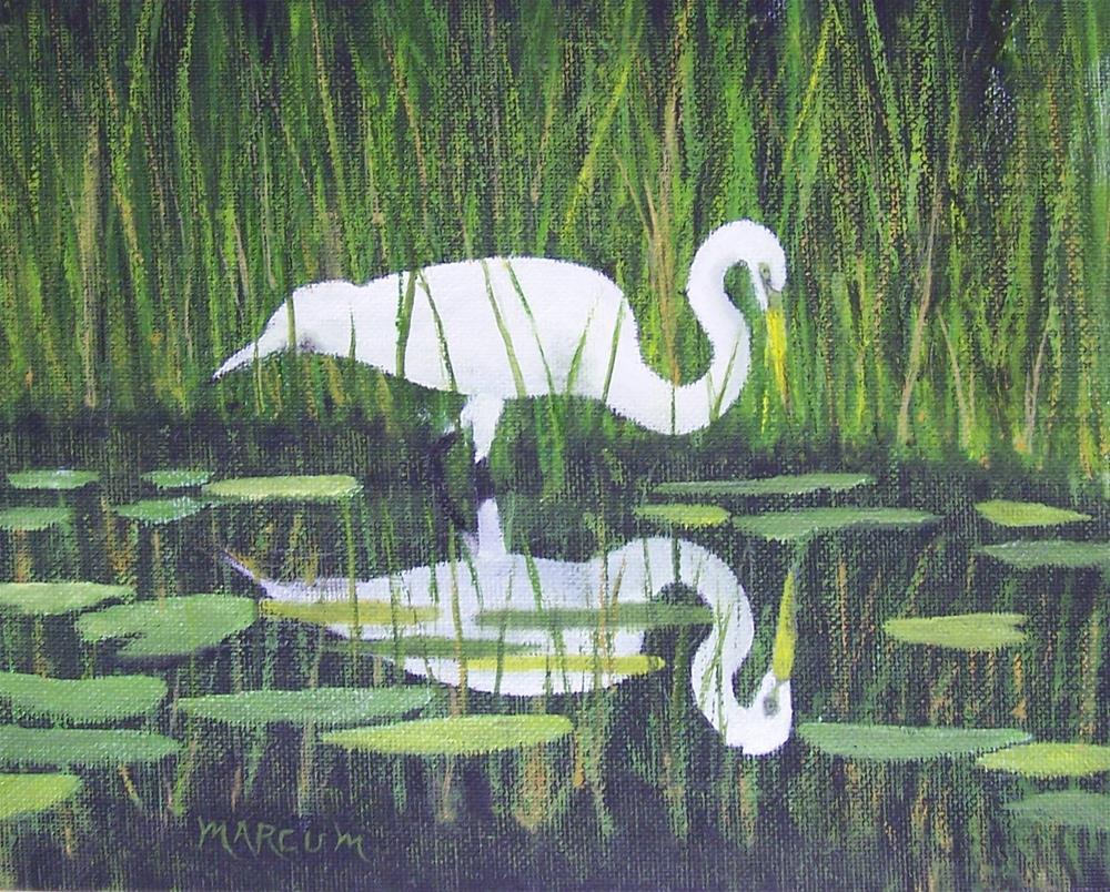 """Reflections in the Marsh"" original fine art by John Marcum"