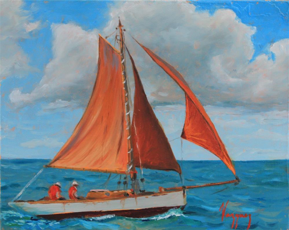 """""""Classic yacht"""" original fine art by Marco Vazquez"""