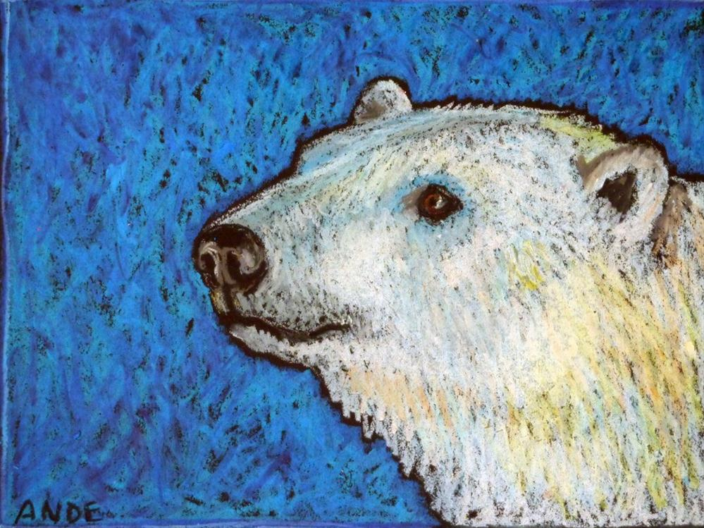 """Polar Bear Portrait"" original fine art by Ande Hall"