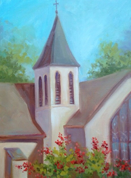 """Chapel"" original fine art by Margie Whittington"