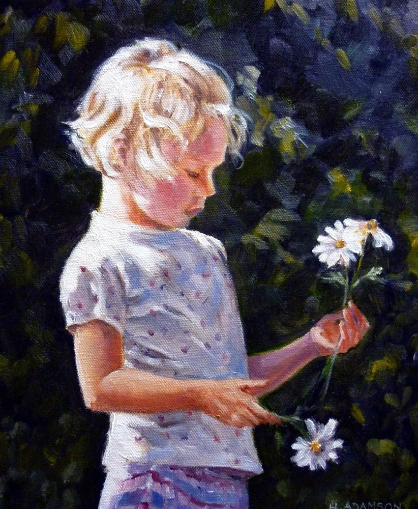"""Daisy Days"" original fine art by Helene Adamson"