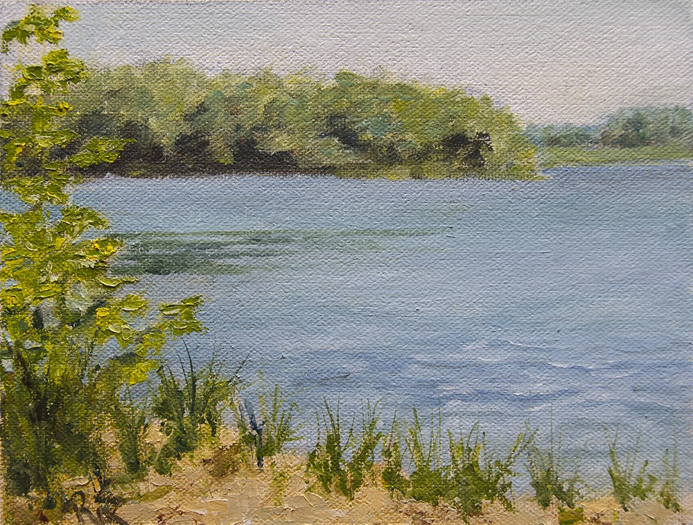 """little lake view June 2016"" original fine art by Rachel Steely"
