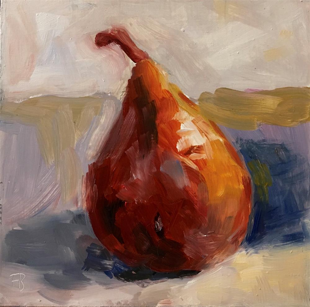 """""""93 Red Pear"""" original fine art by Fred Bell"""