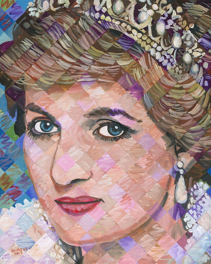 """Princess Diana"" original fine art by Randal Huiskens"