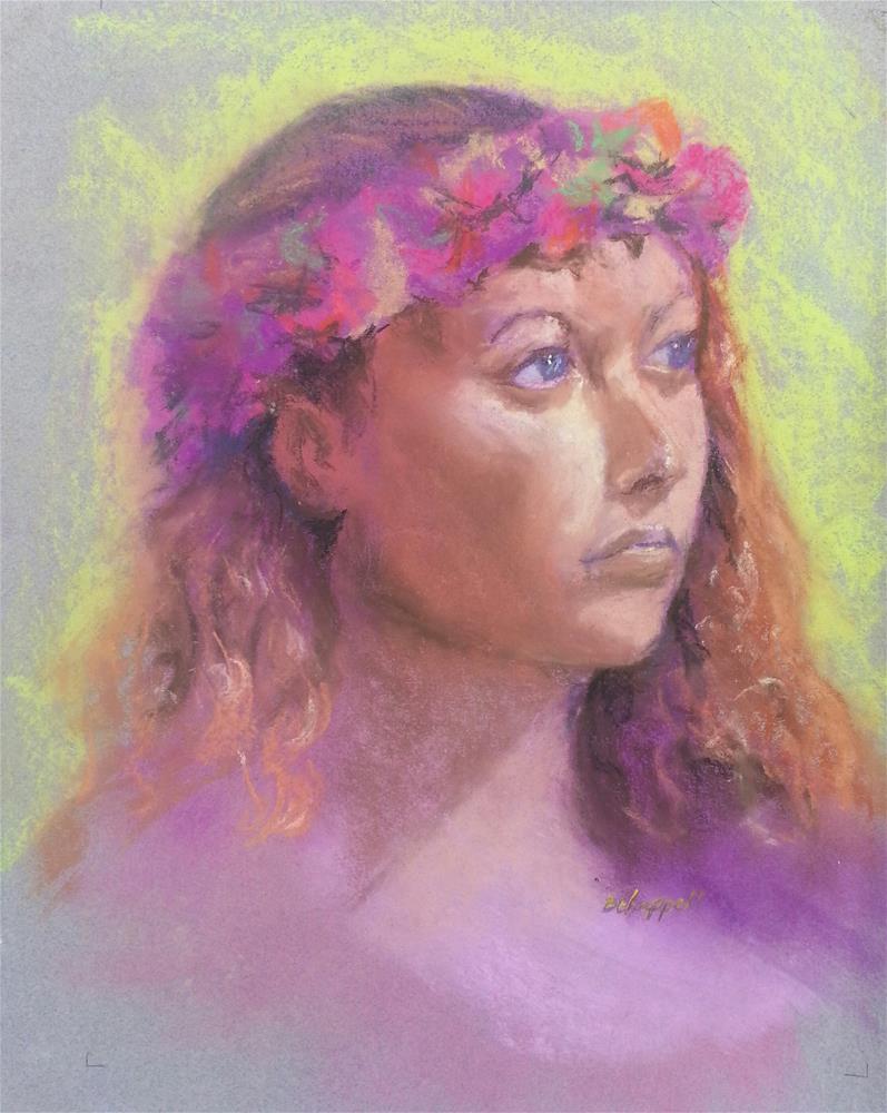 """""""Flower Girl"""" original fine art by Becky Chappell"""