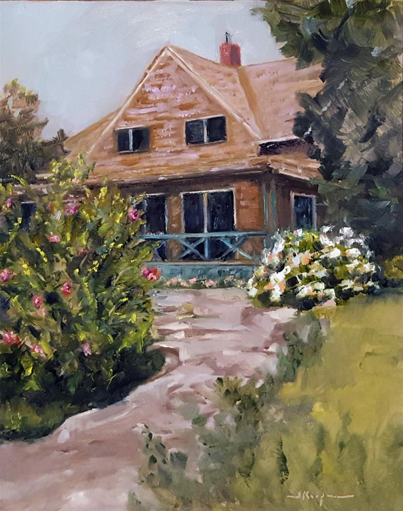 """Cottage by the Water"" original fine art by Shelley Koopmann"