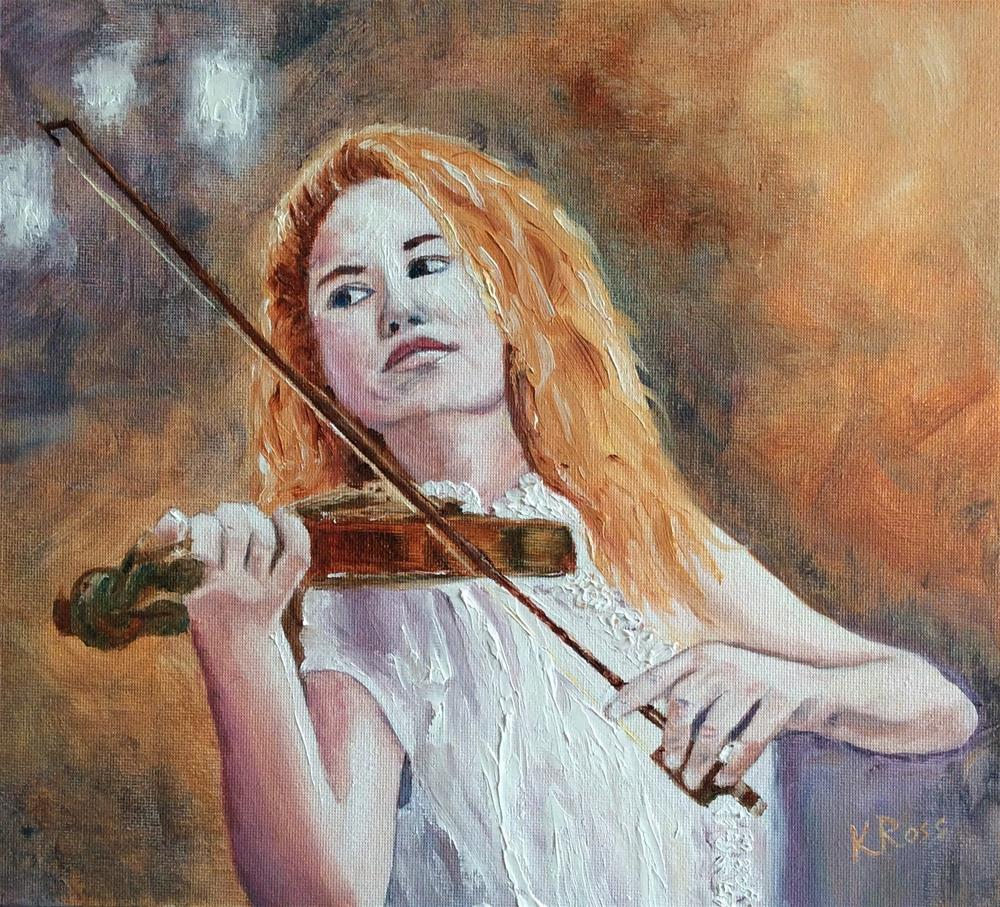 """Music to my ears"" original fine art by Kathryn Ross"