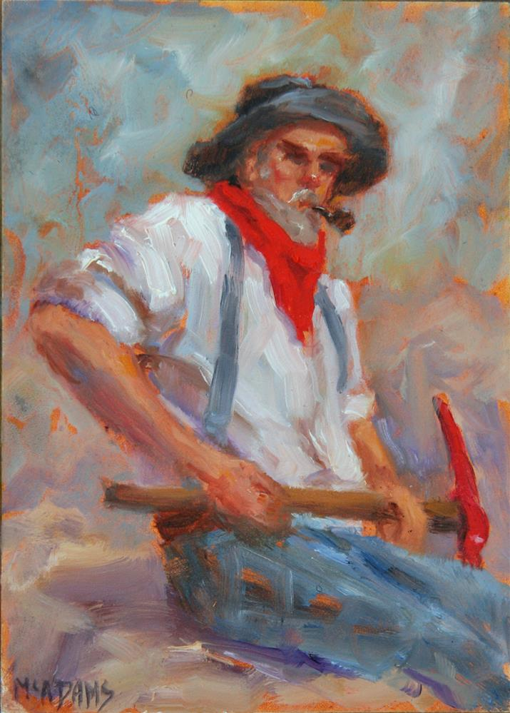 """The Miner"" original fine art by Phyllis McAdams"