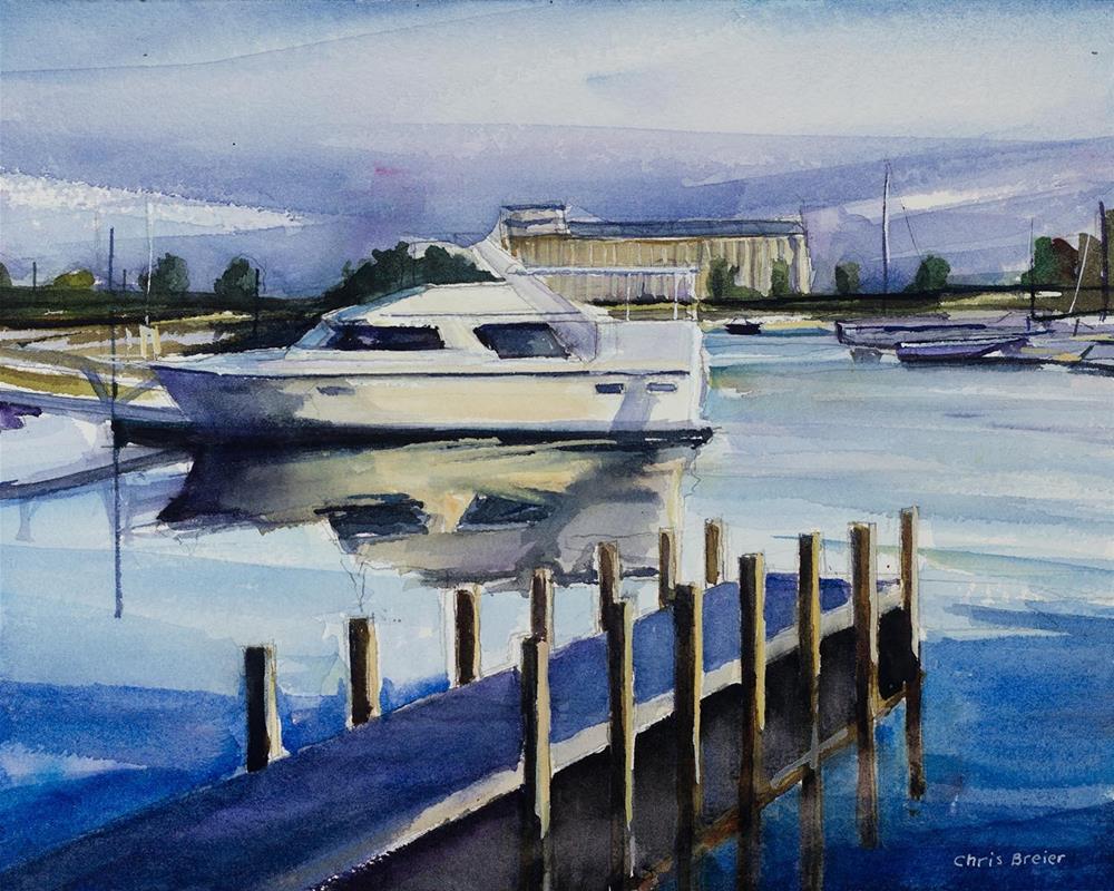 """""""Small Boat Harbor"""" original fine art by Chris  Breier"""
