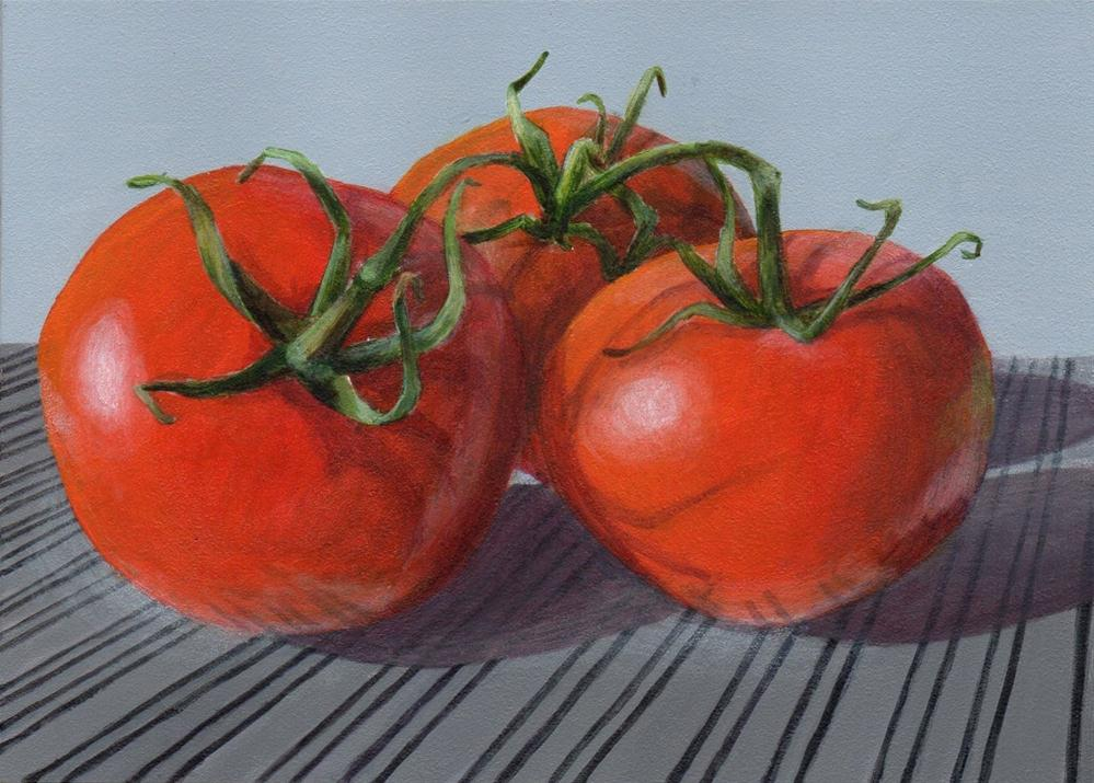 """Tomato Twist"" original fine art by Debbie Shirley"