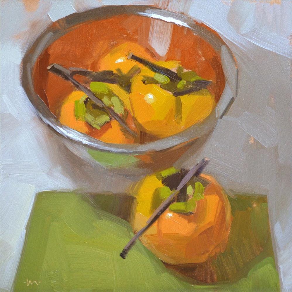"""Persimmon Soiree"" original fine art by Carol Marine"