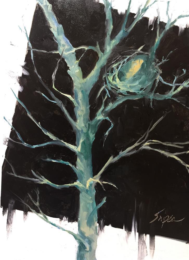 """""""Bird Nest, Day 4"""" original fine art by Connie Snipes"""