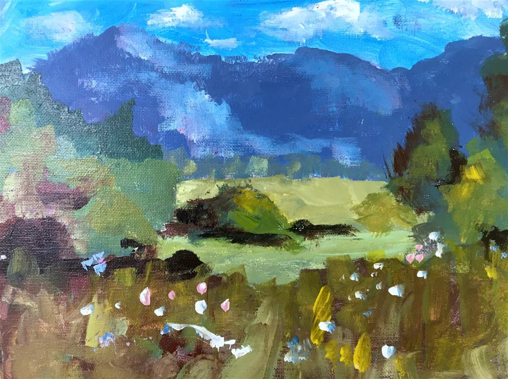 """Landscape Study"" original fine art by Susan Elizabeth Jones"
