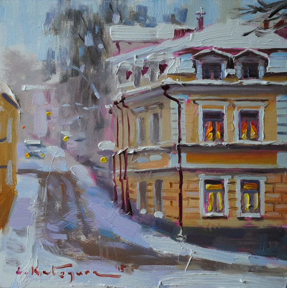 """In Old Town"" original fine art by Elena Katsyura"