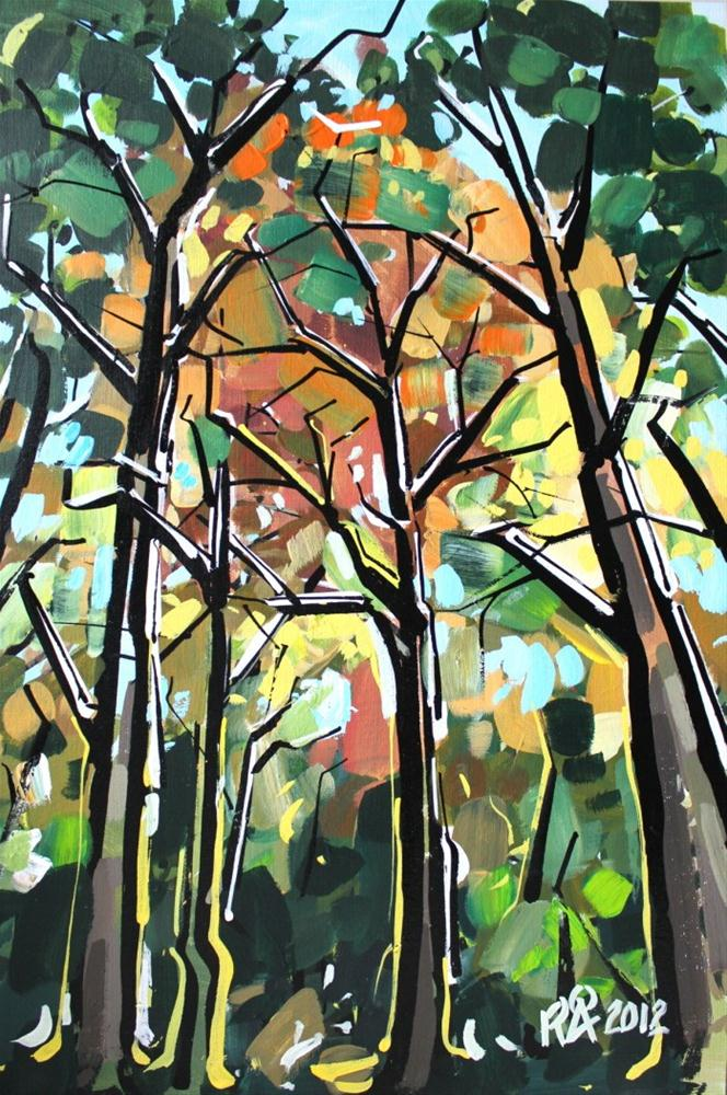 """In the forest 7"" original fine art by Roger Akesson"