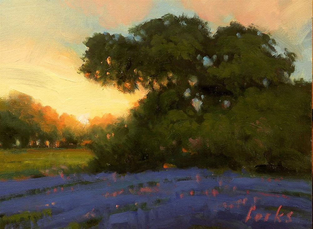 """Sundown Oak"" original fine art by David Forks"