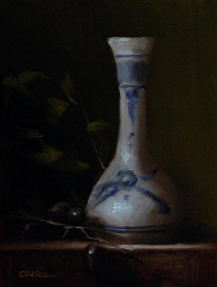 """Delft Bud Vase"" original fine art by Neil Carroll"