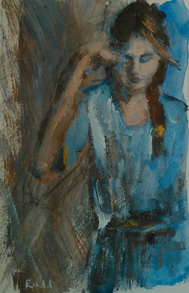 """Blue Mood"" original fine art by Ann Rudd"