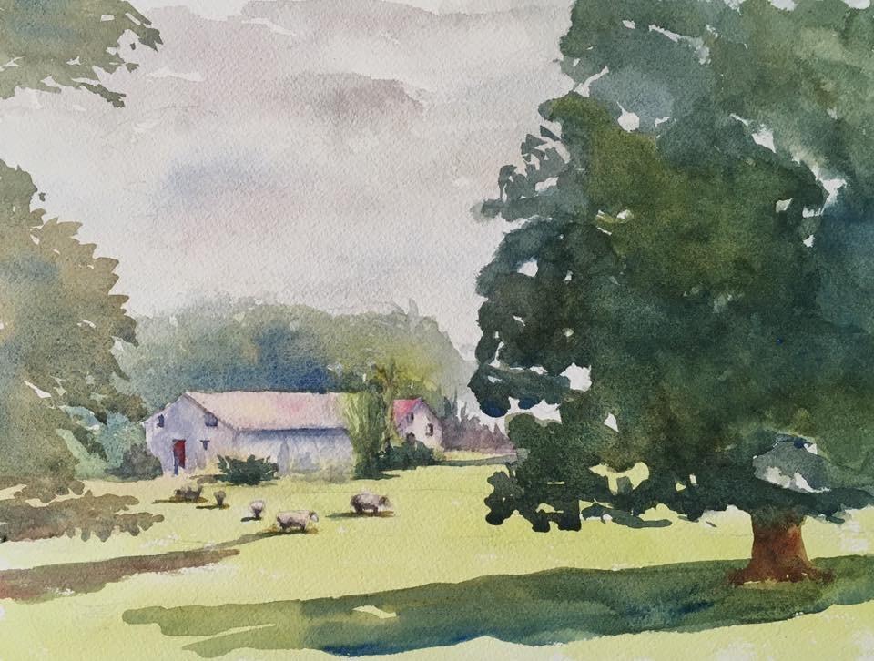 """Sweet Irish Summer"" original fine art by Katharine Engh"