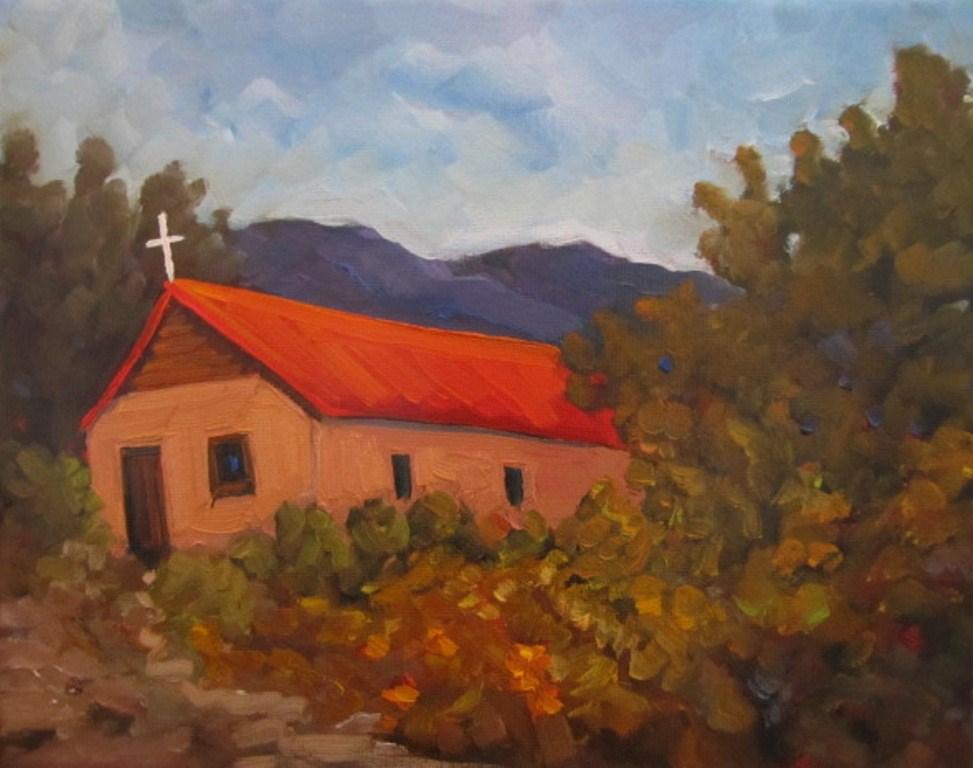 """Orange Roof"" original fine art by Dee Sanchez"