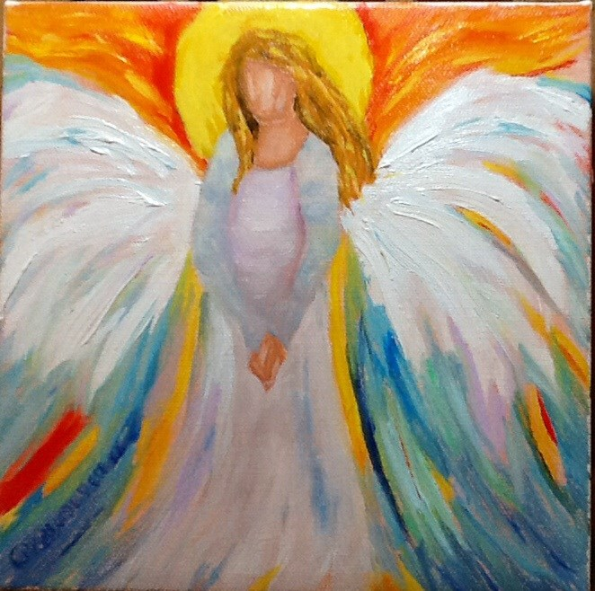 """EARTH ANGEL"" original fine art by Charlotte Bankhead Hedrick"