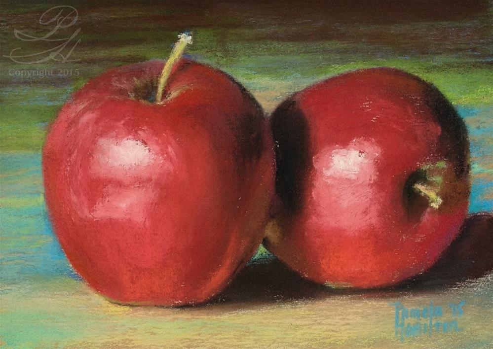 """Fresh Apples"" original fine art by Pamela Hamilton"