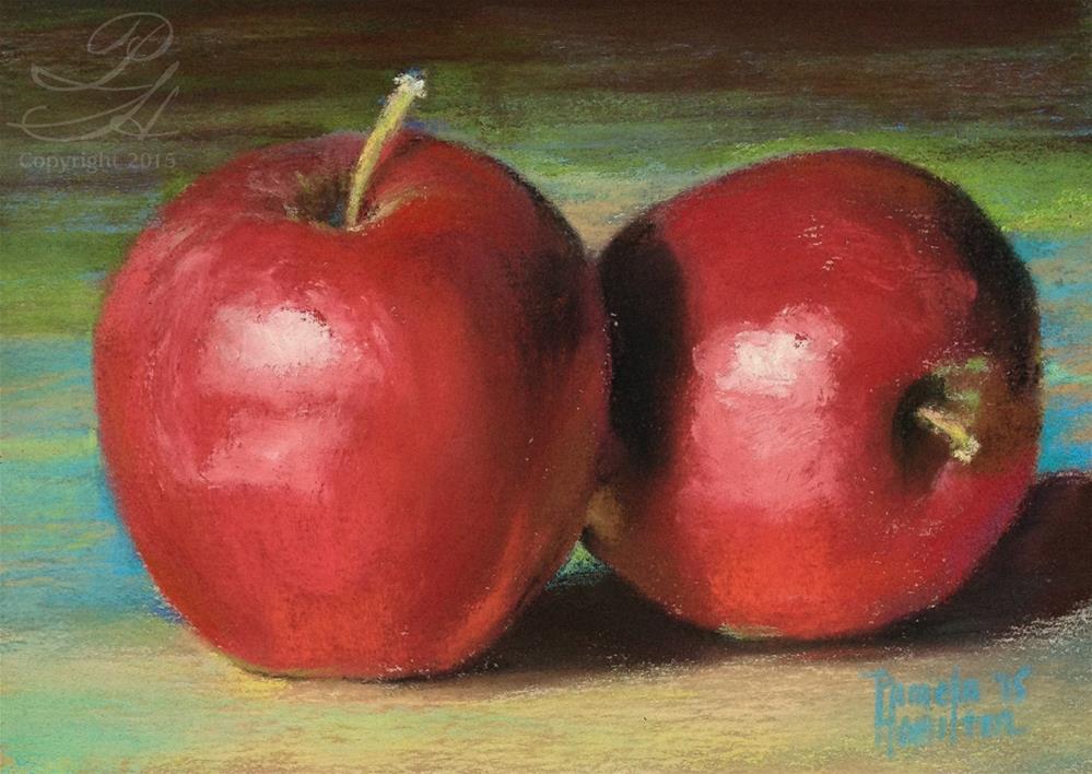 """Fresh Apples"" original fine art by Pamela Hamilton"