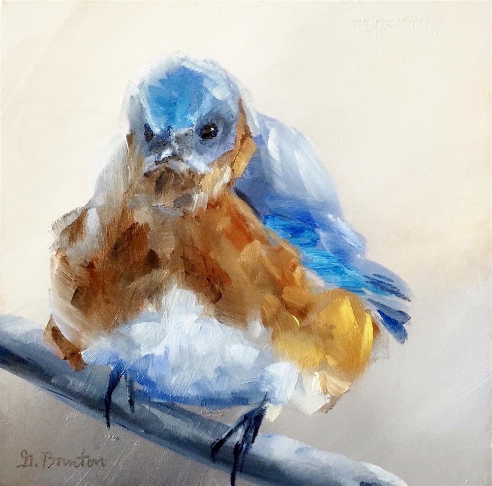 """Grumpy Bird"" original fine art by Gary Bruton"