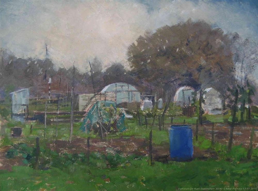 """Volkstuintjes Doetinchem The Netherlands"" original fine art by René PleinAir"
