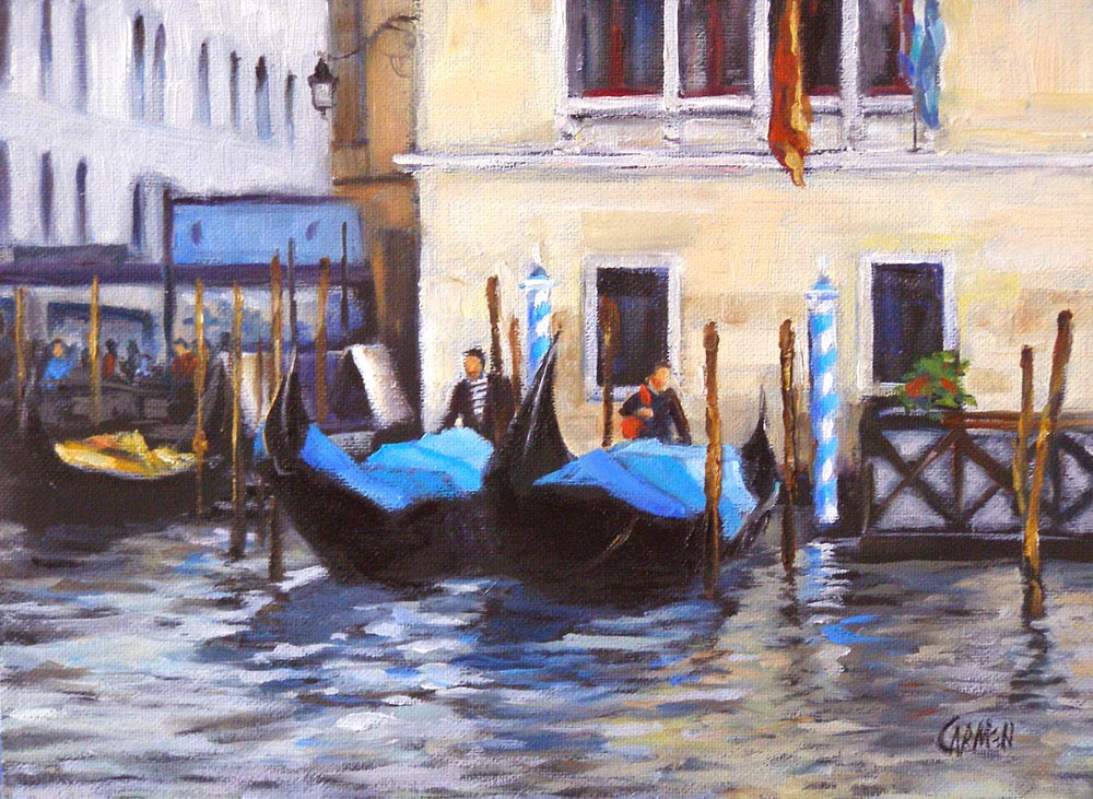 """Gondolas"" original fine art by Carmen Beecher"