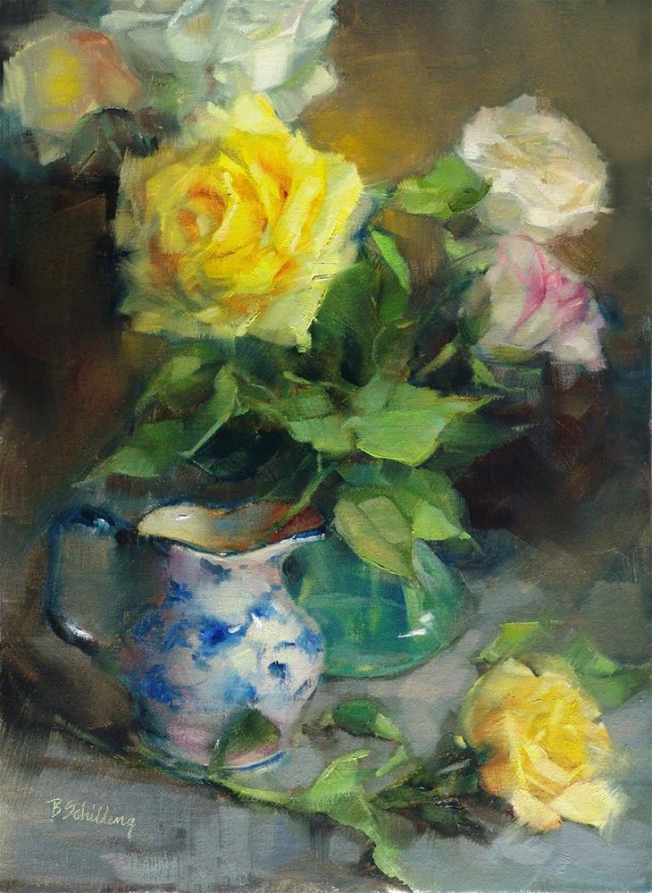 """Big Yellow"" original fine art by Barbara Schilling"