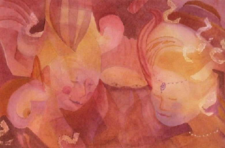 """THE TROUPE"" original fine art by Ruthie Sexton"