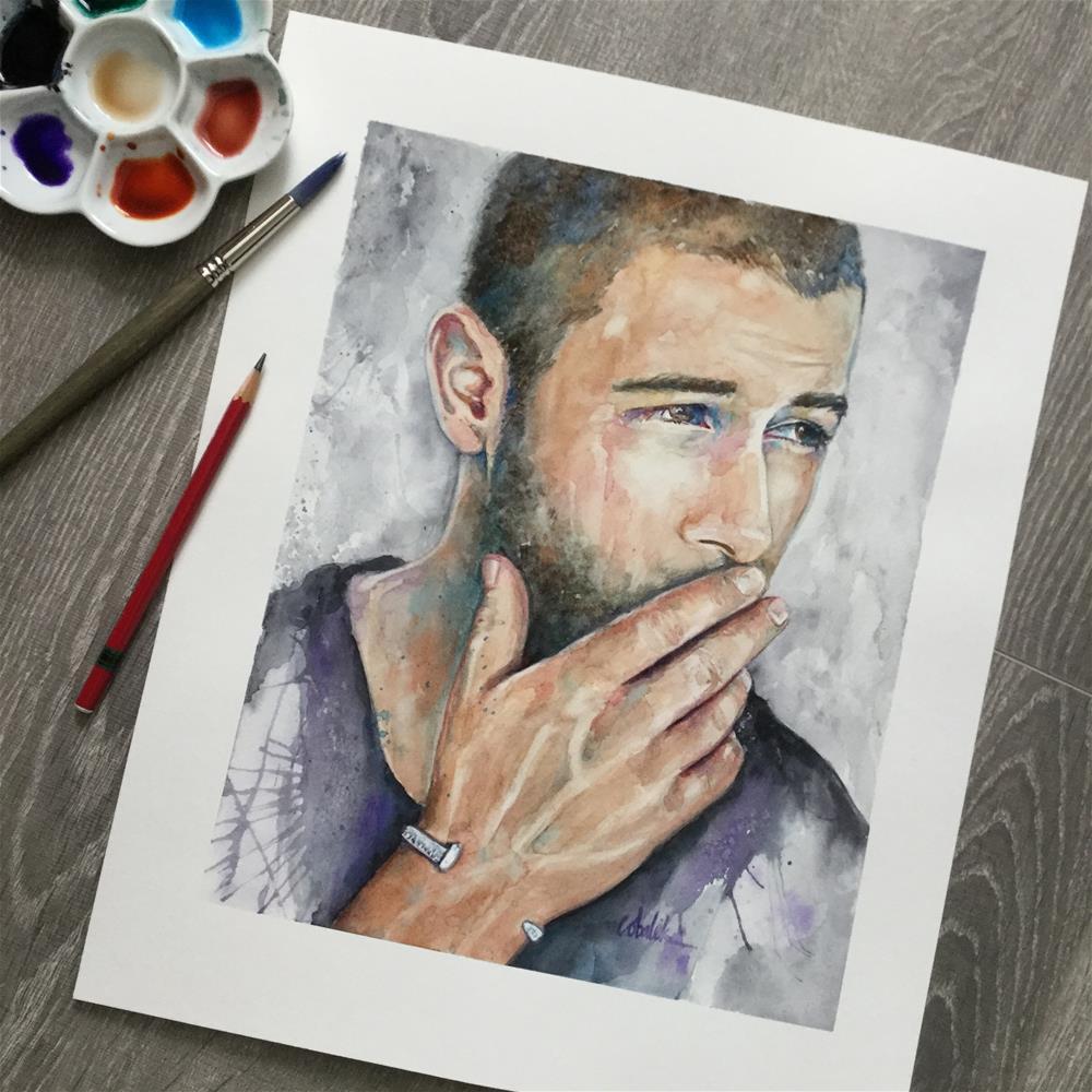 """Nick Jonas"" original fine art by Christy Obalek"