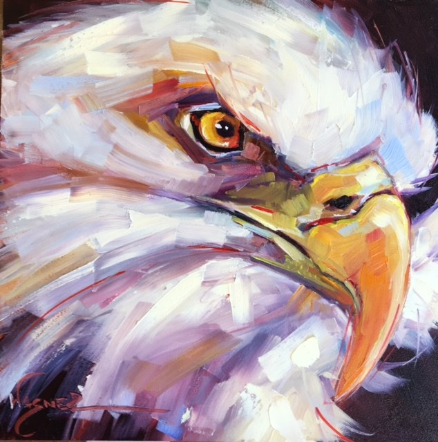 """EAGLE STARE"" original fine art by Olga Wagner"