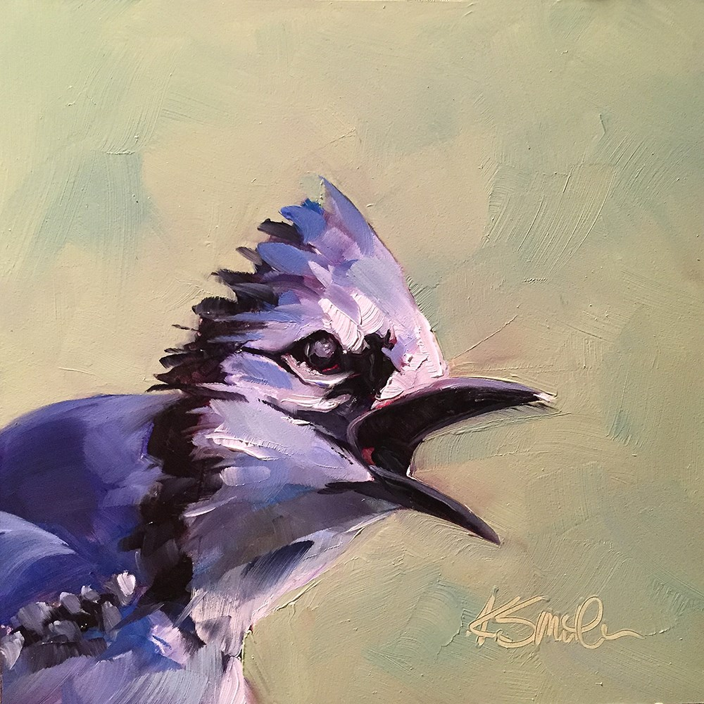 """blue jay"" original fine art by Kim Smith"