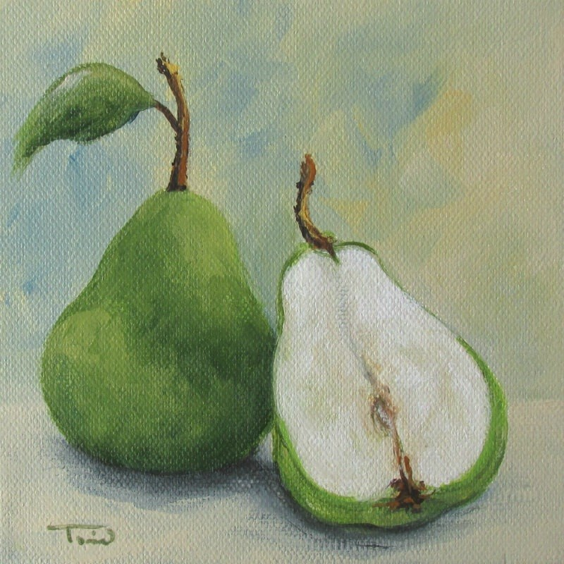 """Saturday's Pear"" original fine art by Torrie Smiley"